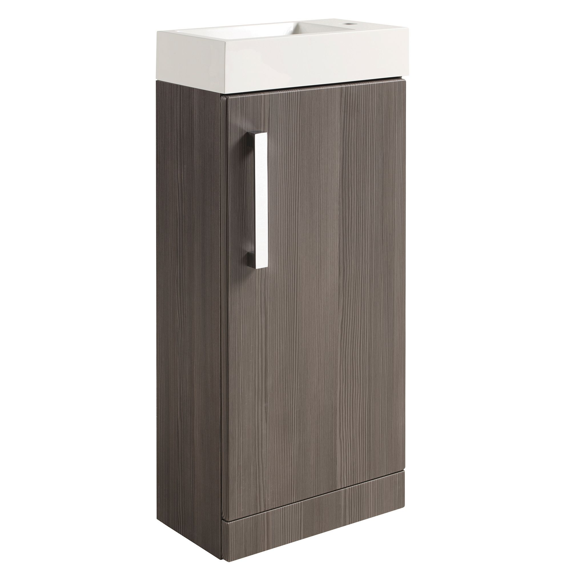 Bathroom Cabinets Uk Bq Cooke Lewis Ardeche Wood Effect Bodega Grey Vanity Unit