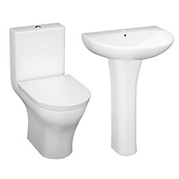 Cooke & Lewis Angelica Close-Coupled Toilet & Full