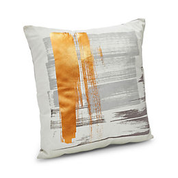 Cordasha Brushed Copper, Grey & Cream Cushion
