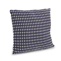 Cyrilla Cross Stitch Blue Cushion