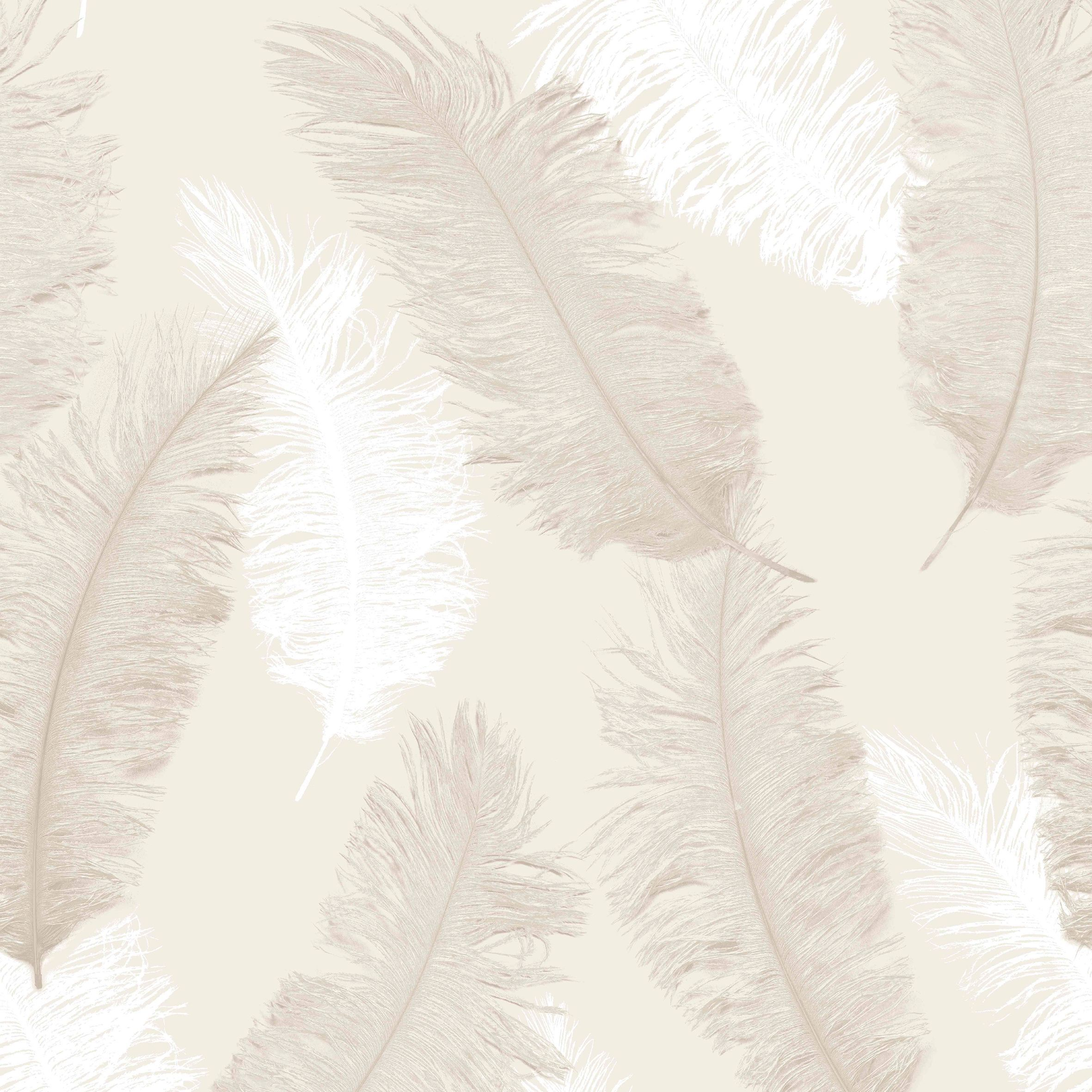 Colours Umali Brown & Taupe Feather Embosed Glitter Wallpaper
