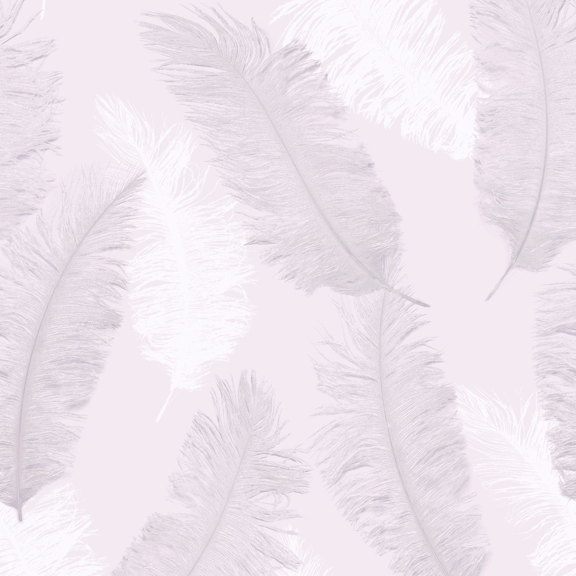 Colours Umali Pink Feather Embosed Glitter Wallpaper