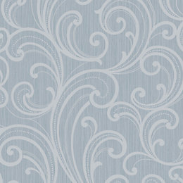 Colours Sarika Teal Scroll Raised Texture with Glitter