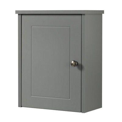 Cooke Lewis Rhone Single Door Grey Matt Small Wall Cabinet