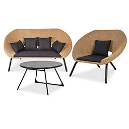 Loa Rattan 3 Seater Coffee Set
