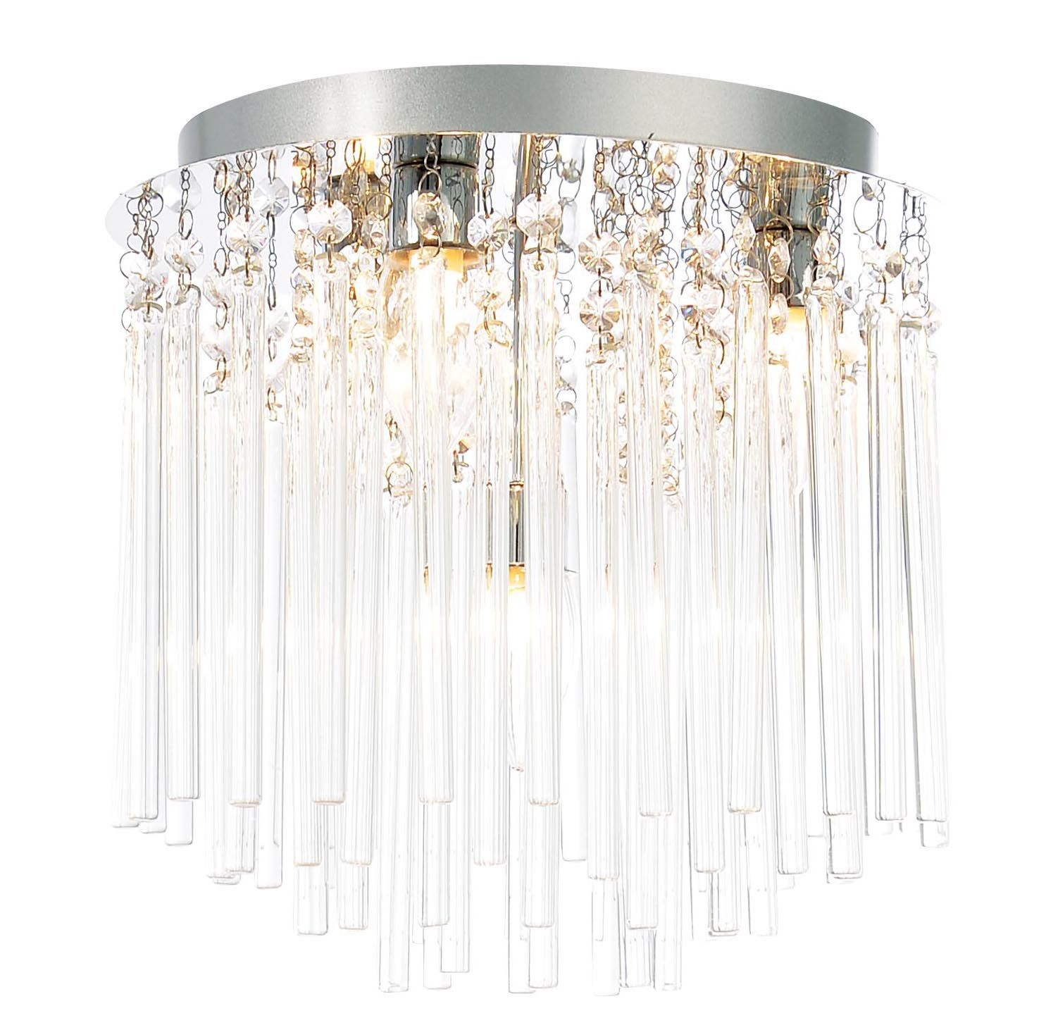 Bathroom Ceiling Lights At B&Q tooma chrome effect 4 lamp bathroom ceiling light | departments
