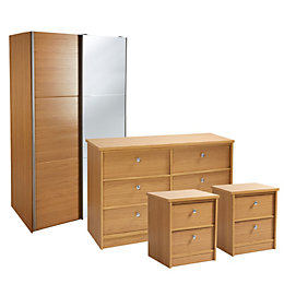Kendal Oak Effect 4 Piece Bedroom Furniture Set