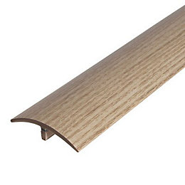 Colours Light Oak Effect Threshold Trim 90 cm