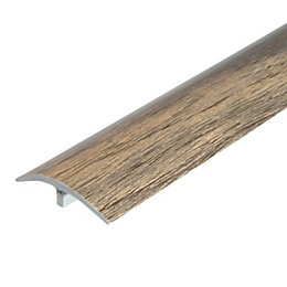 Colours Natural Grey Effect Threshold Trim 90 cm