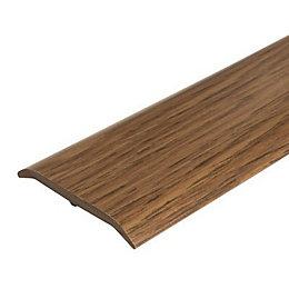Colours Dark Rustic Oak Effect Threshold Trim 90