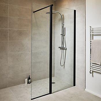 Illusion grey stone flooring in bathroom