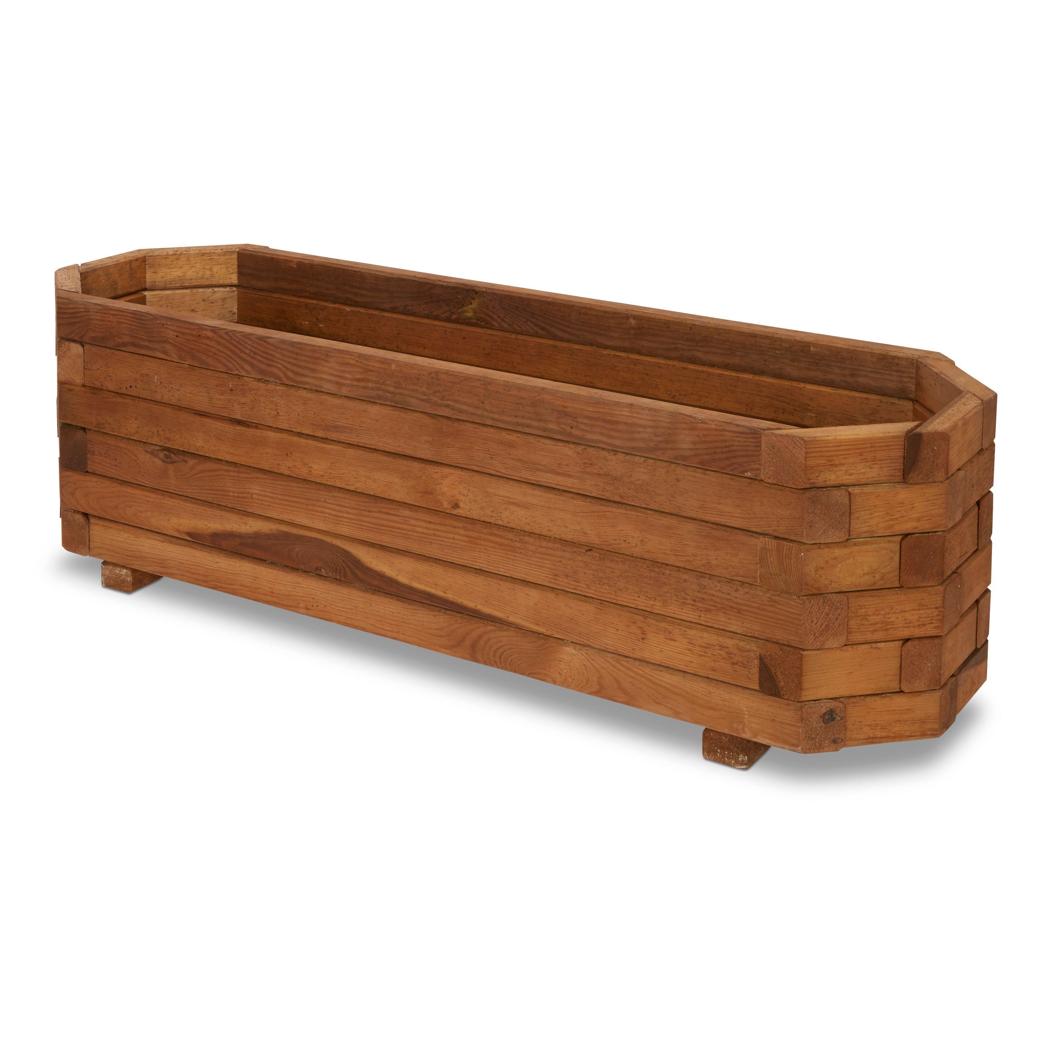Bopha Rectangular Wooden Trough (h)300mm (dia)1000mm