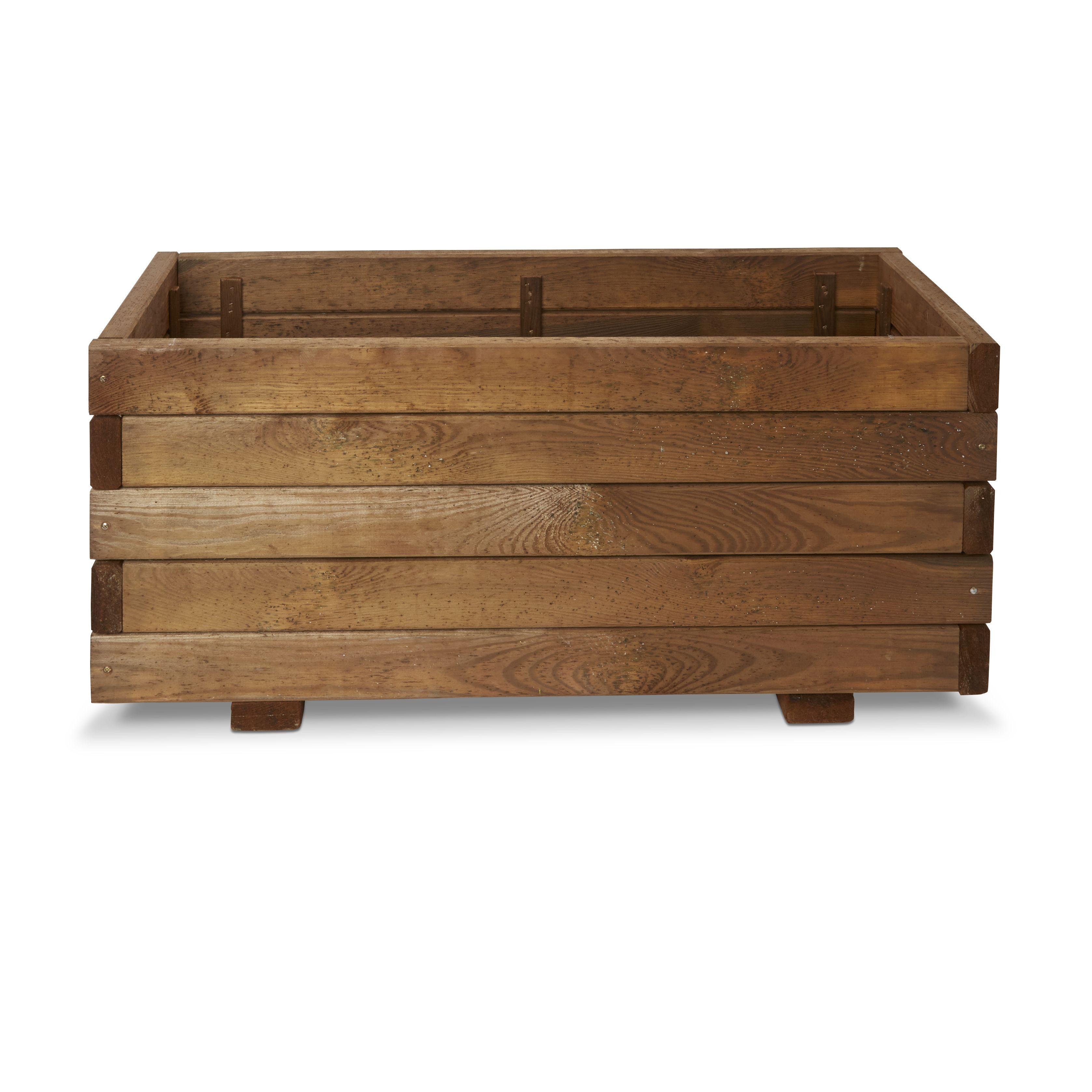Bopha Rectangular Wooden Trough (h)350mm (dia)800mm