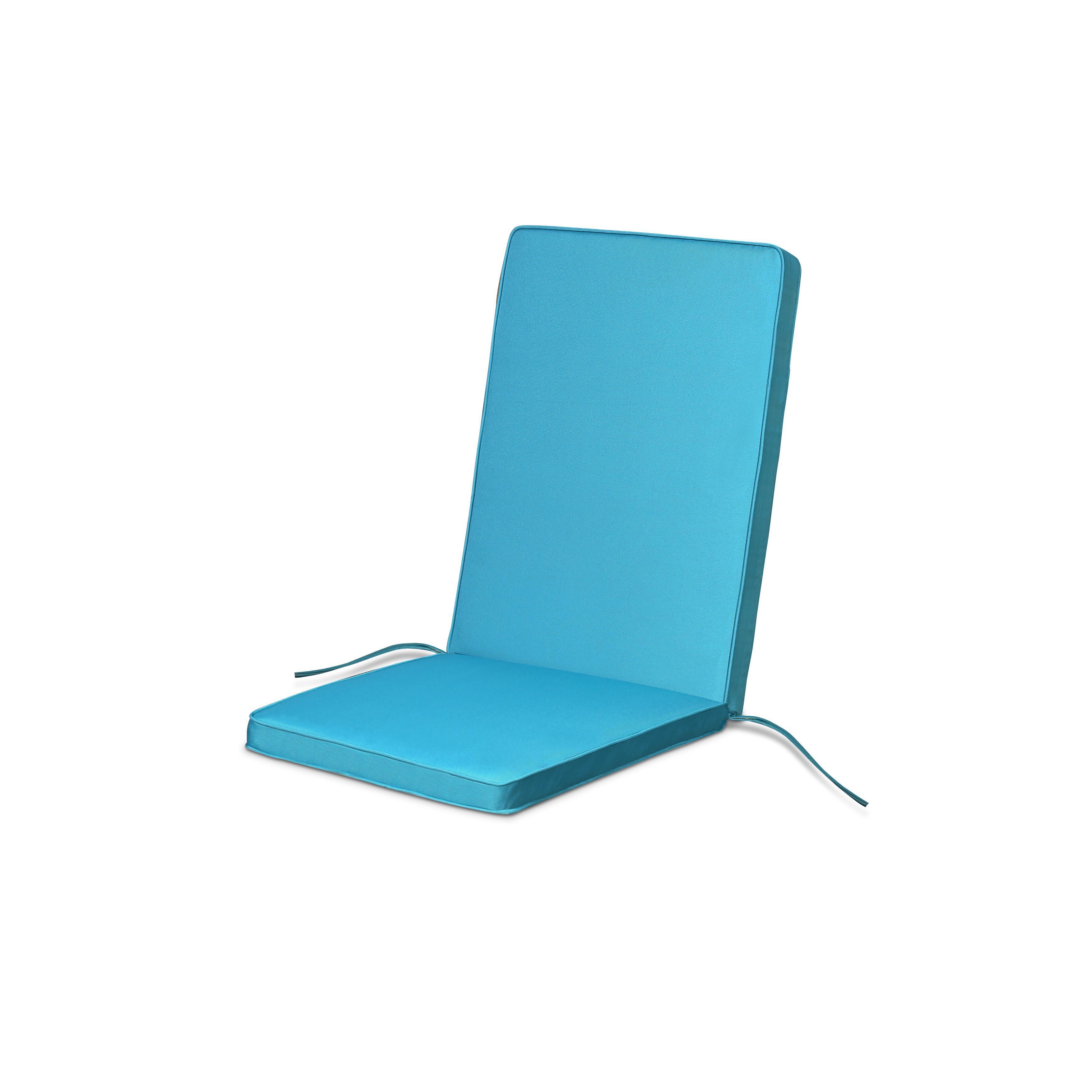 Tiga Biscay Blue Plain High Back Seat Cushion