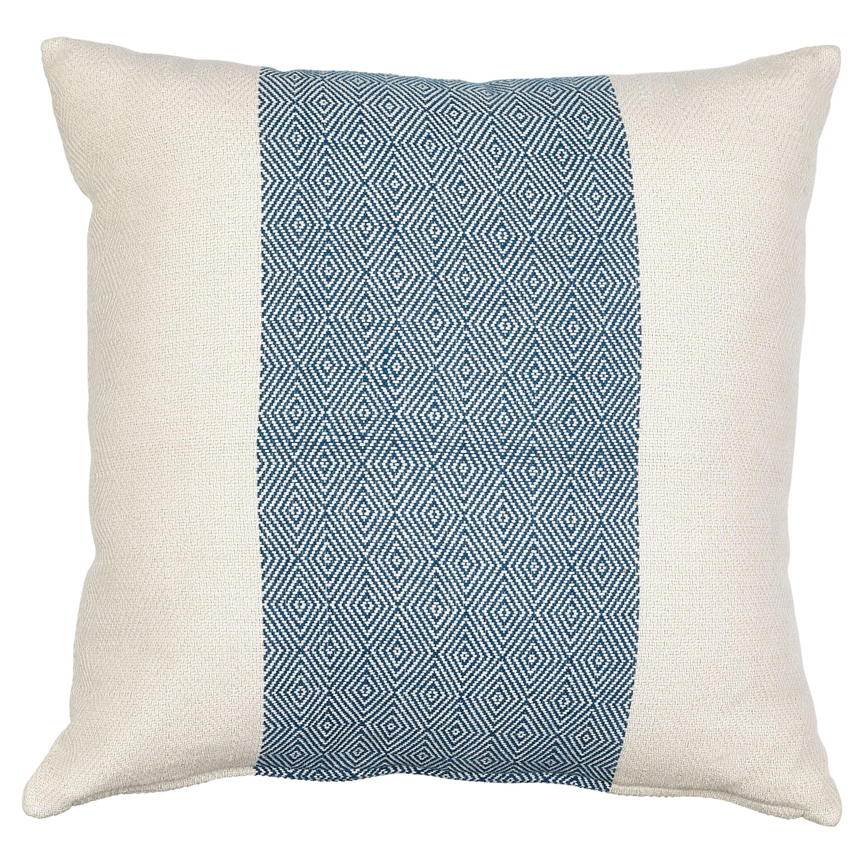 Rural Indigo Geometric Diamond Cushion