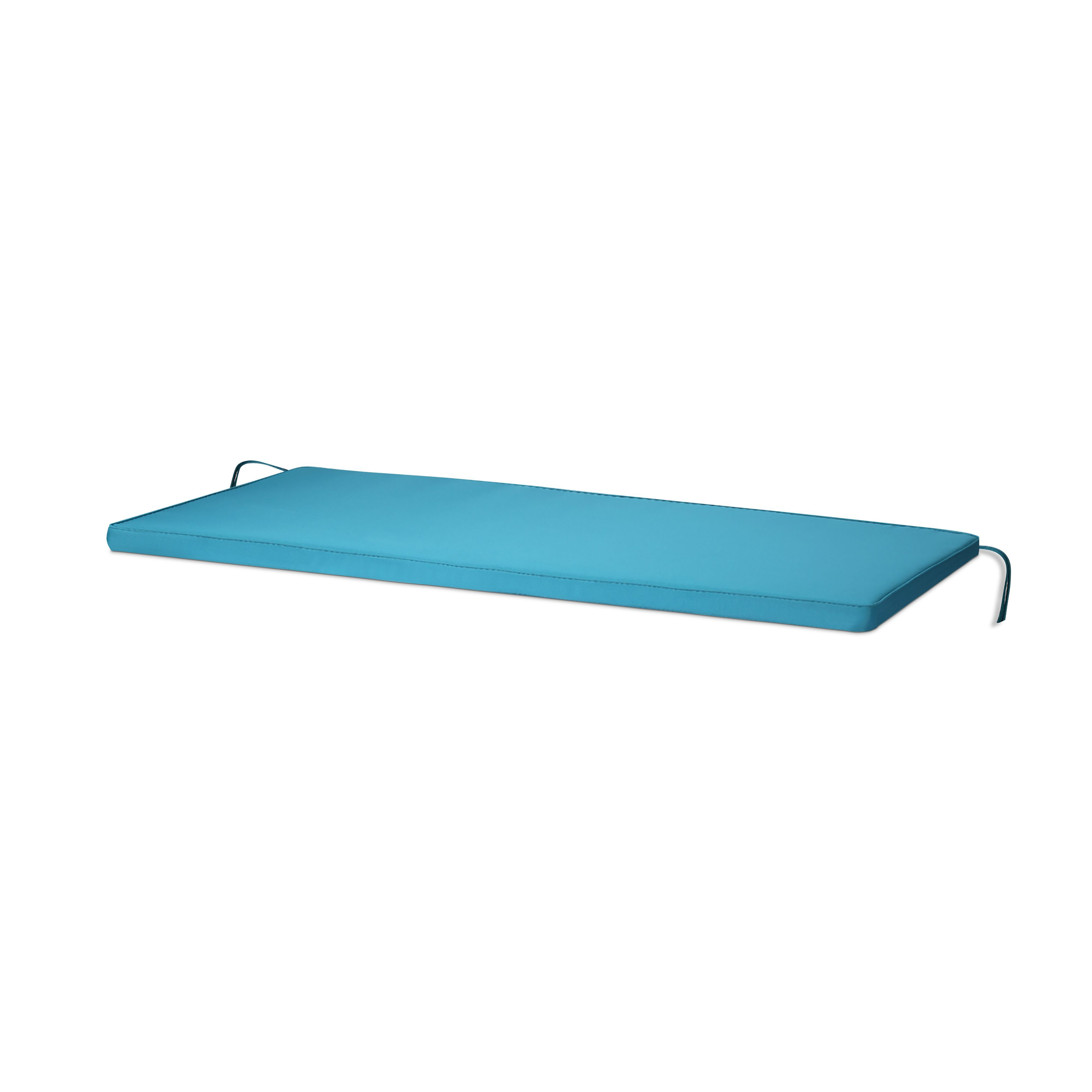 Tiga Biscay Blue Plain Bench Cushion