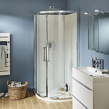 Beloya Quadrant Shower enclosure with Corner entry double sliding door