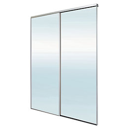 Blizz Mirrored Sliding Wardrobe Door Kit (H)2260 mm