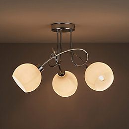 Vacuna Chrome Effect 3 Lamp Ceiling Light