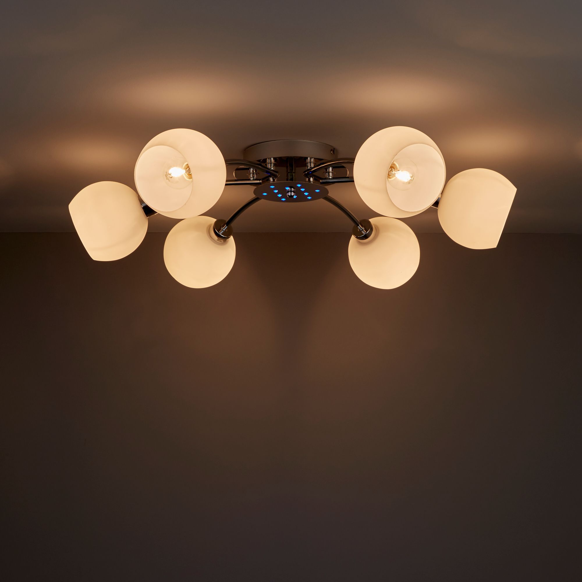 Vacuna Chrome Effect 6 Lamp Ceiling Light Departments