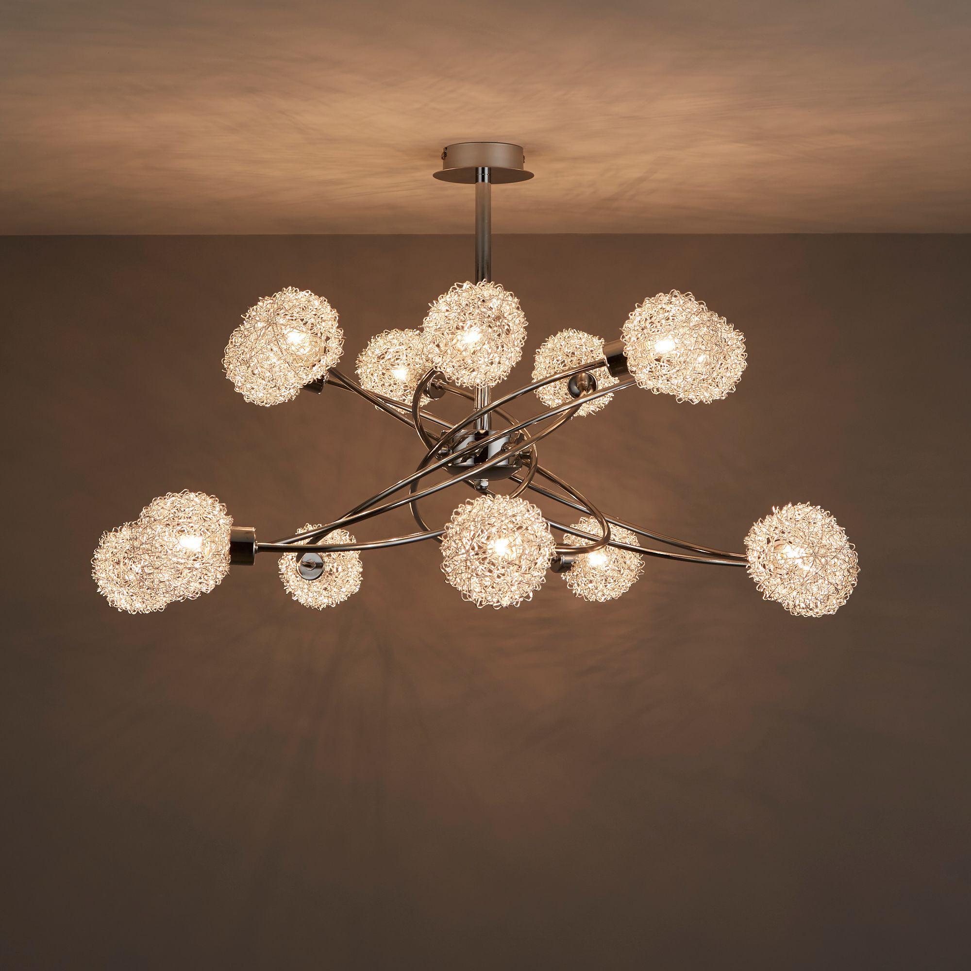 Caelus Chrome Effect 14 Lamp Ceiling Light