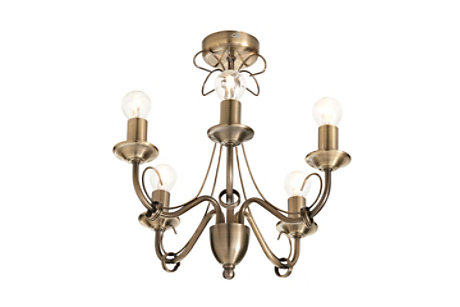 Inuus Brass Ceiling Light