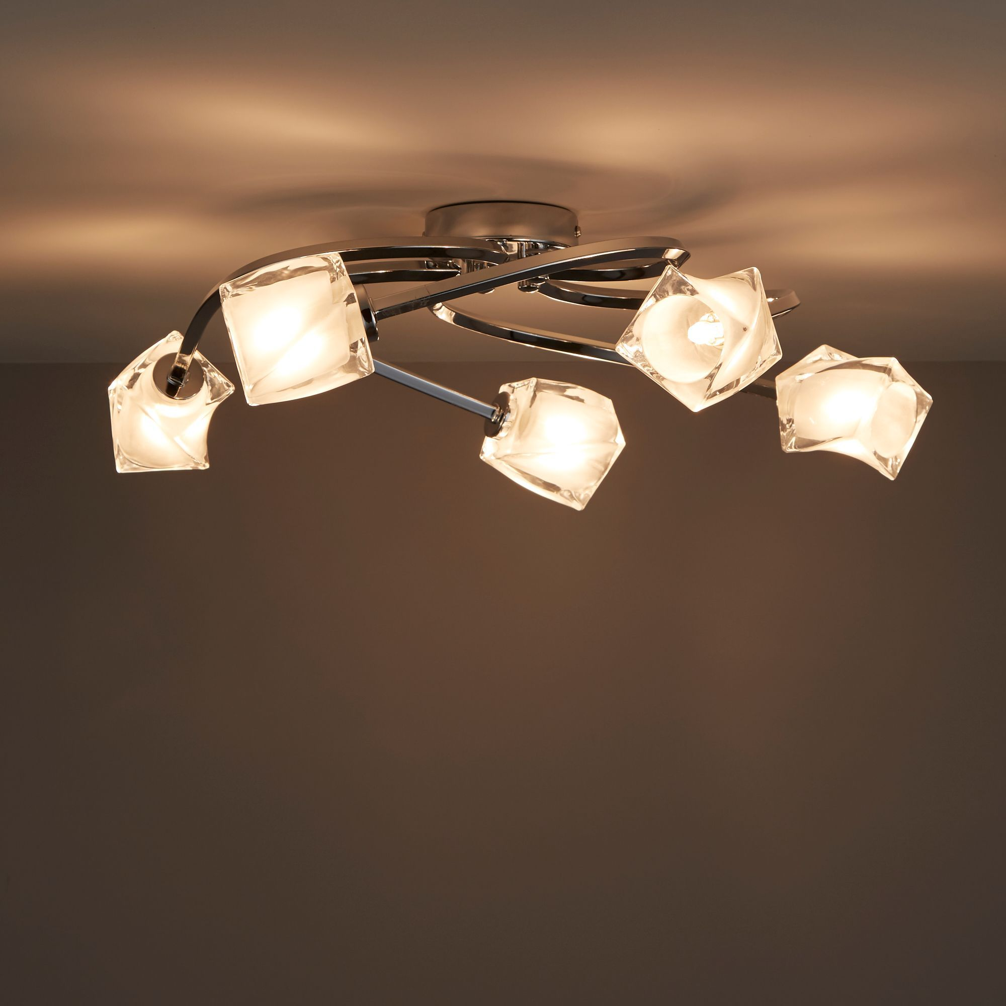 Glacies Chrome Effect 5 Lamp Ceiling Light Departments