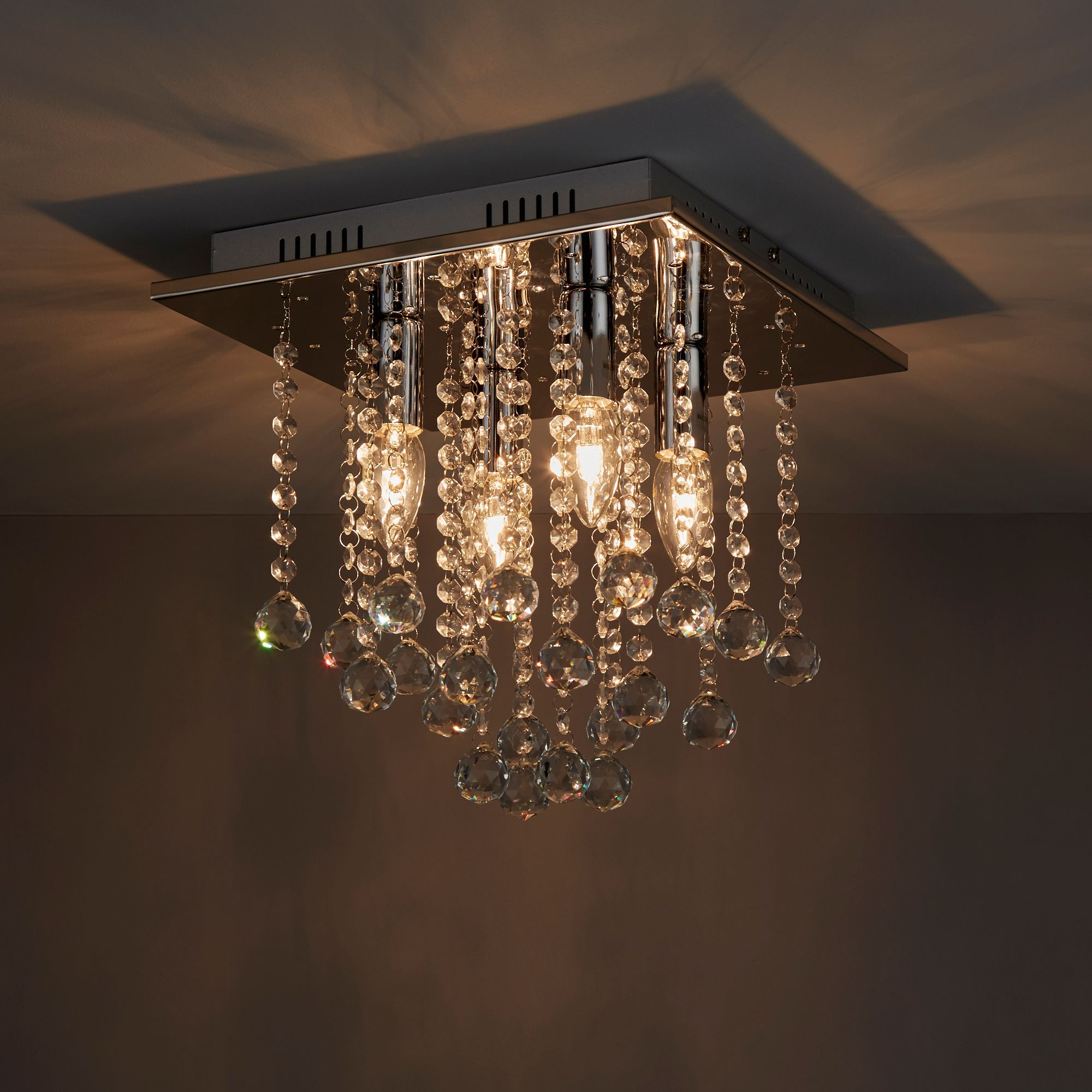 Libertas Chrome Effect 4 Lamp Ceiling Light Departments