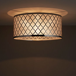 Aula Trellis Chrome Effect Ceiling Light