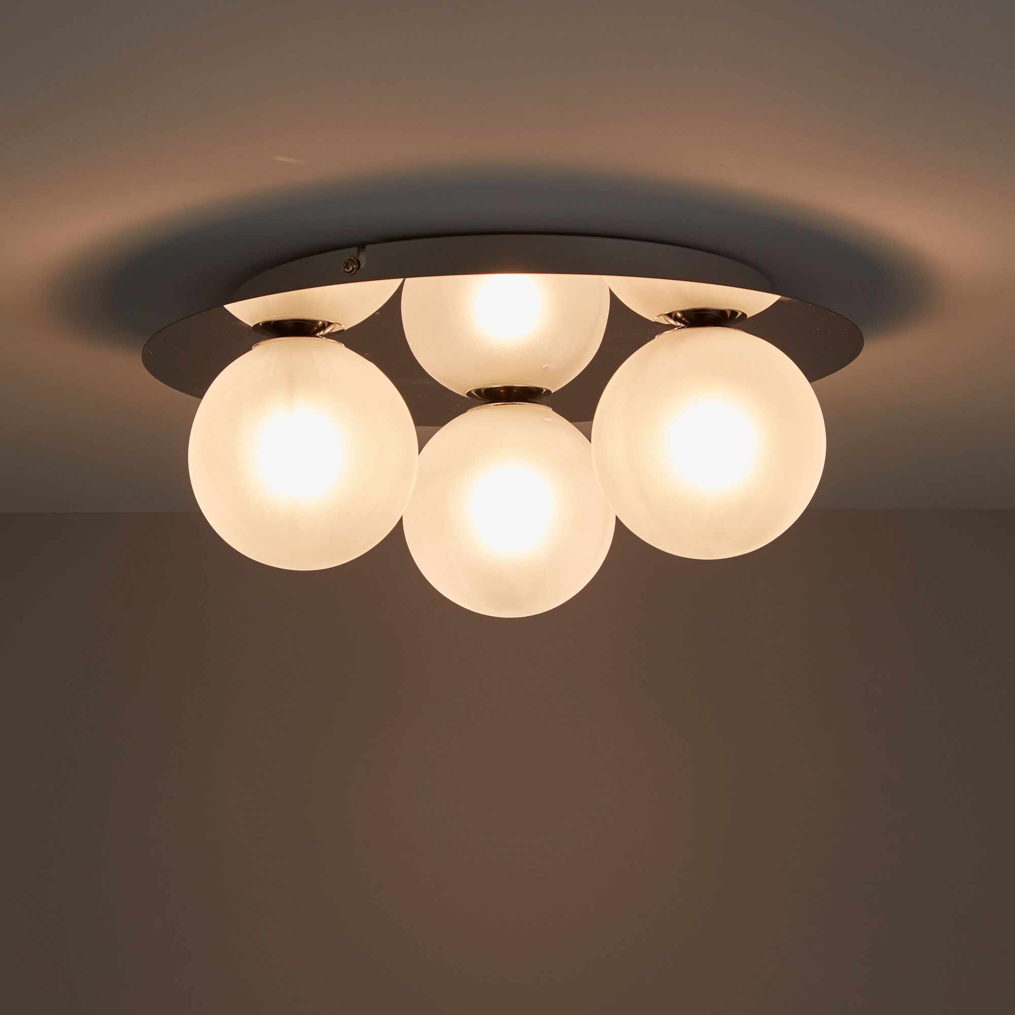 Cimon Chrome Effect 3 Lamp Ceiling Light Departments