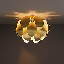 Fleurus Brushed Gold Effect Ceiling Light