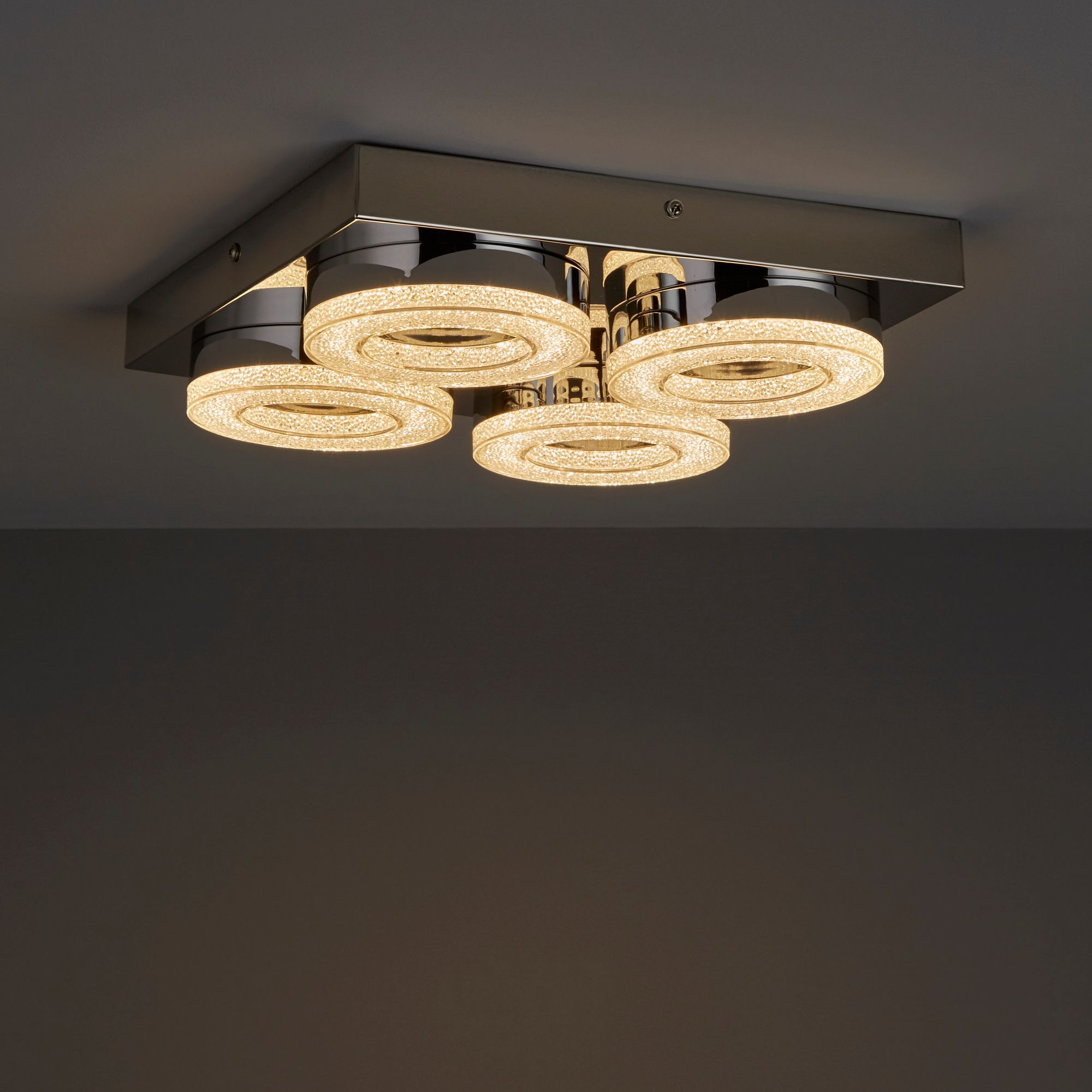 Perna Chrome Effect Ceiling Light Departments Diy At B Amp Q