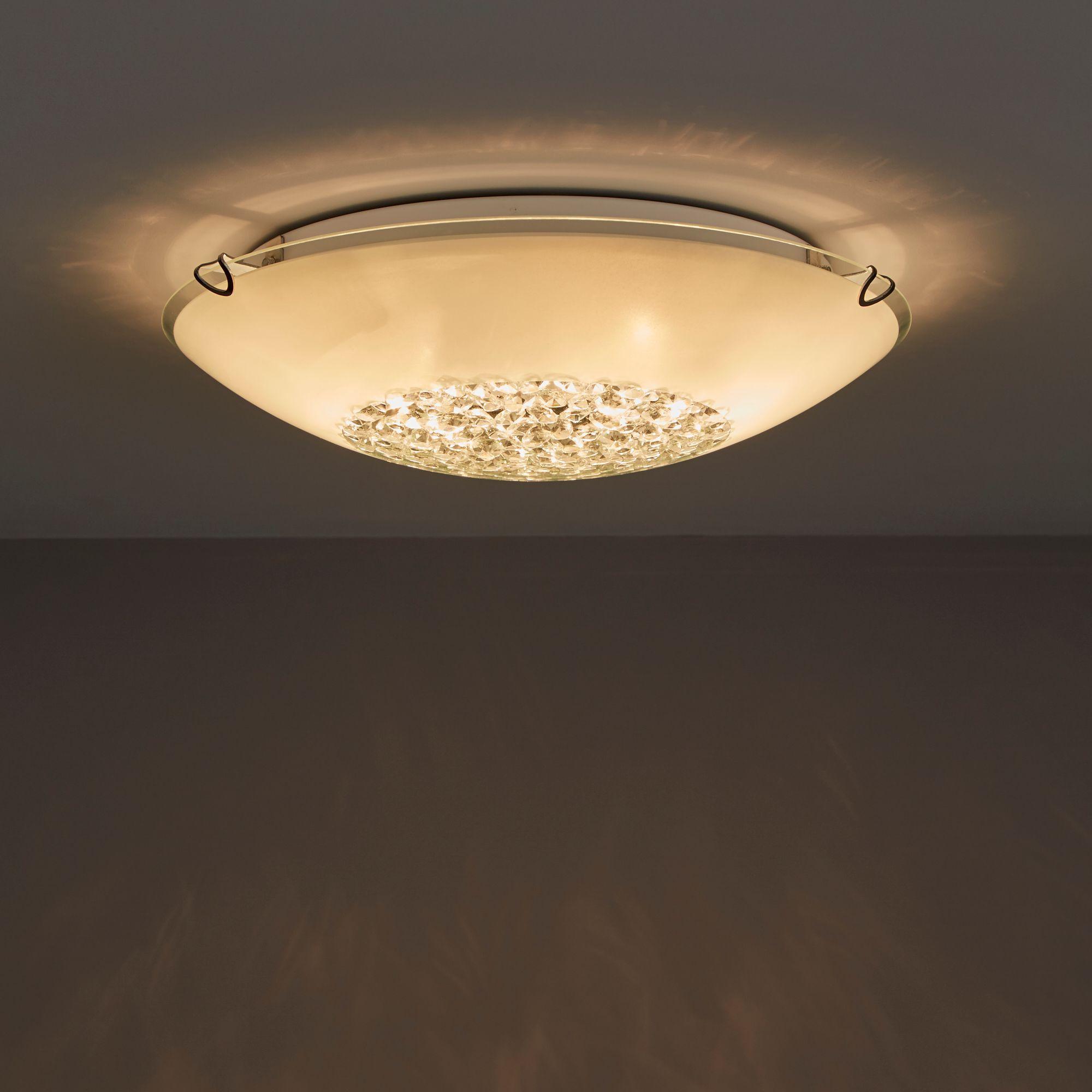 gaia white  lamp ceiling light departments diy  bq