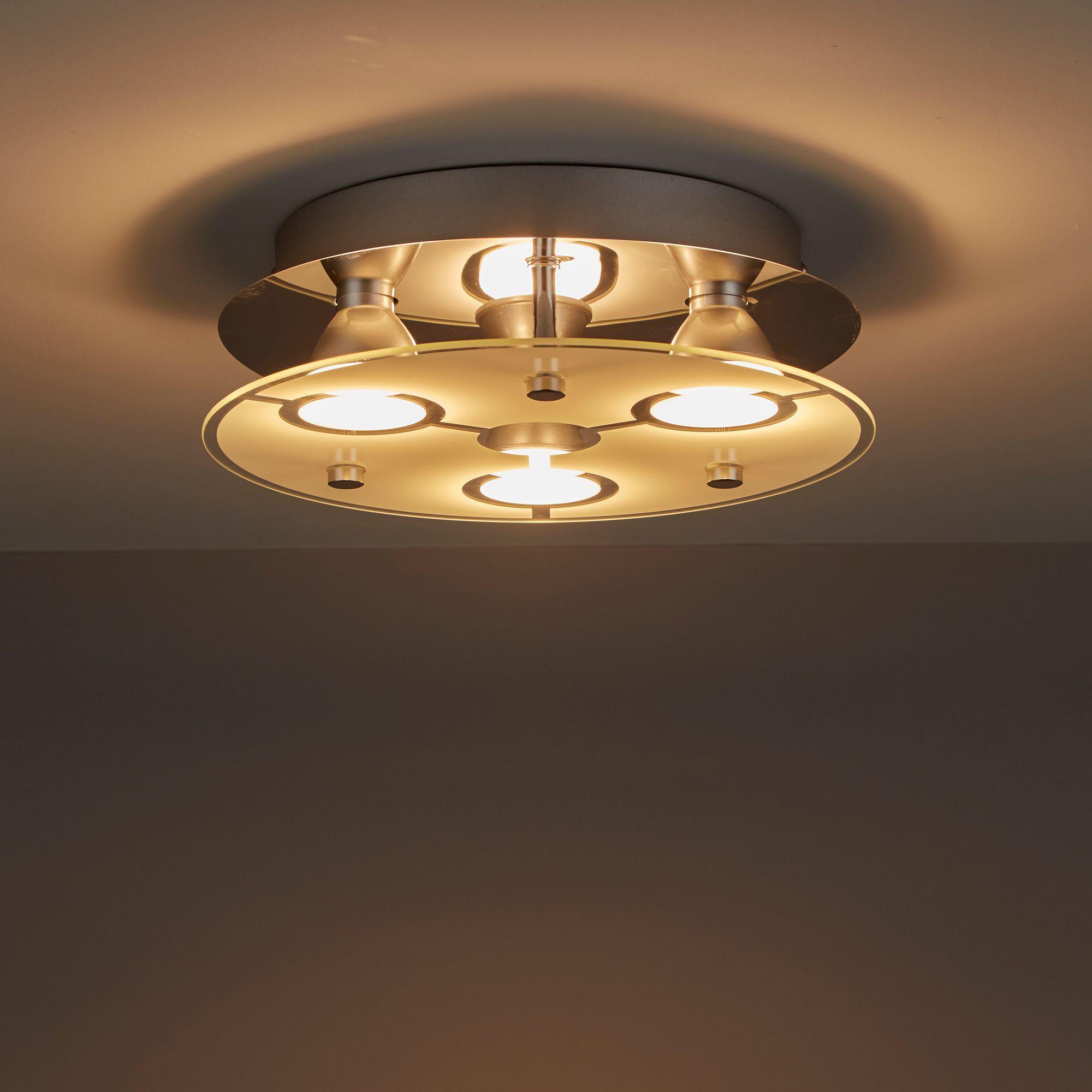 Janus Chrome Effect 3 Lamp Ceiling Light Departments