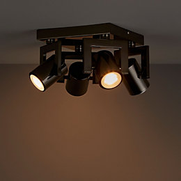 Galene Gun Metal Effect 4 Lamp Spotlight