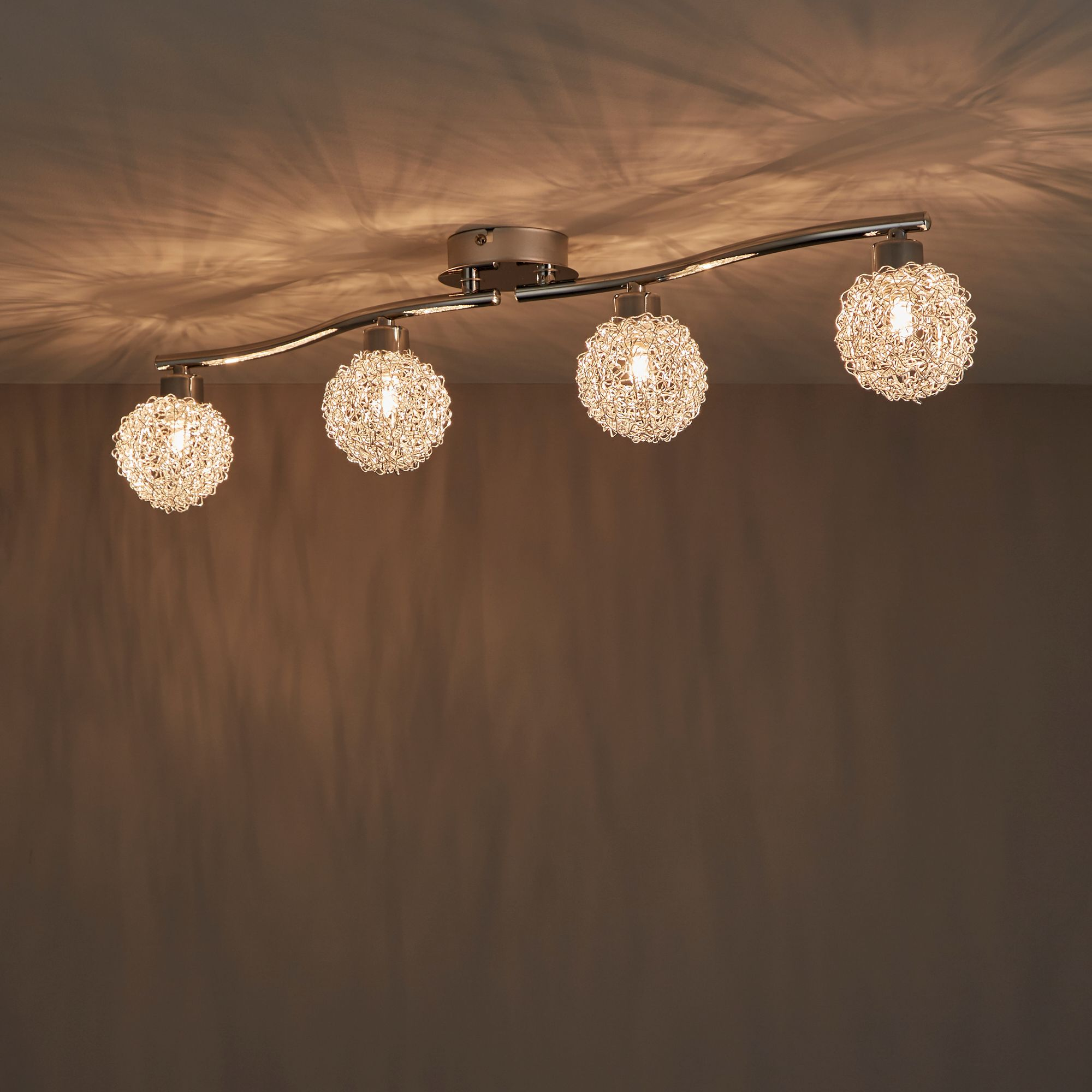 Phaidros Chrome Effect 4 Lamp Spotlight
