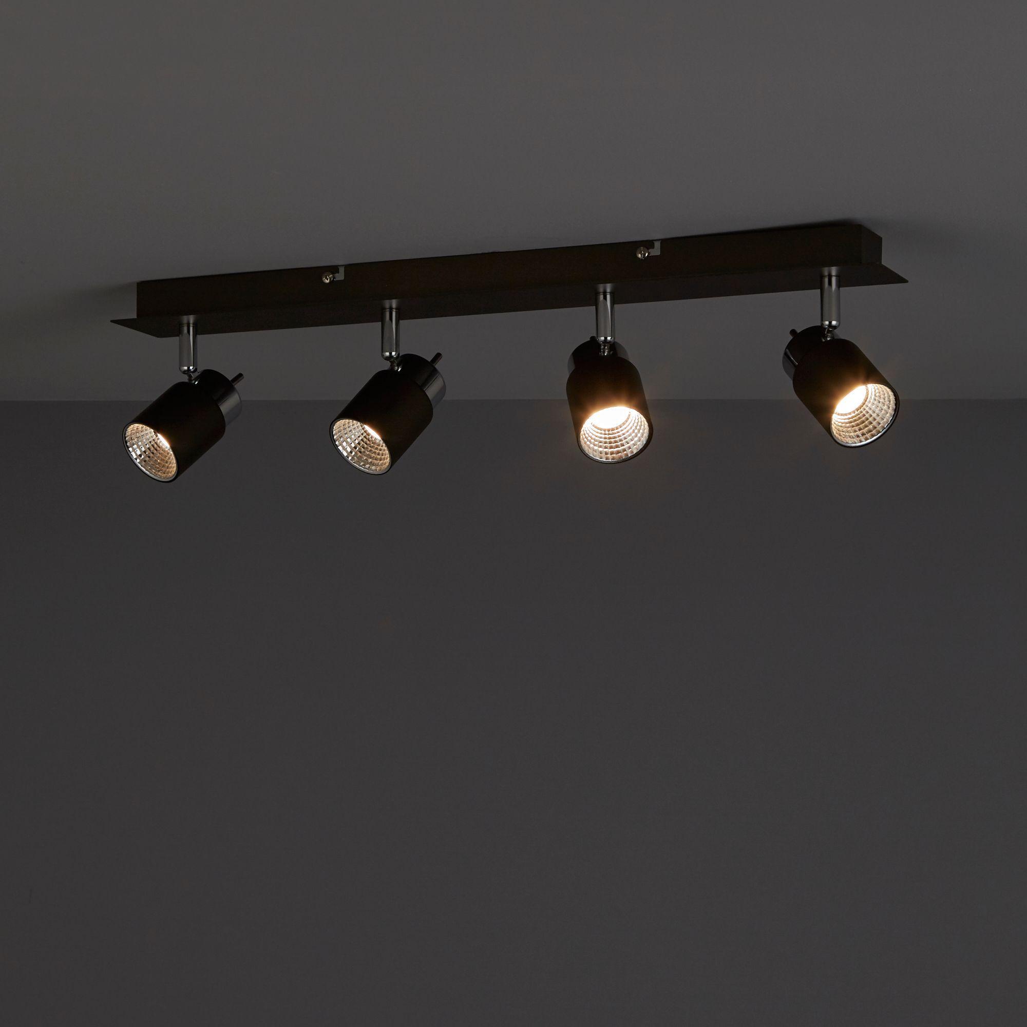 Hades Grey Chrome Effect 4 Lamp Spotlight