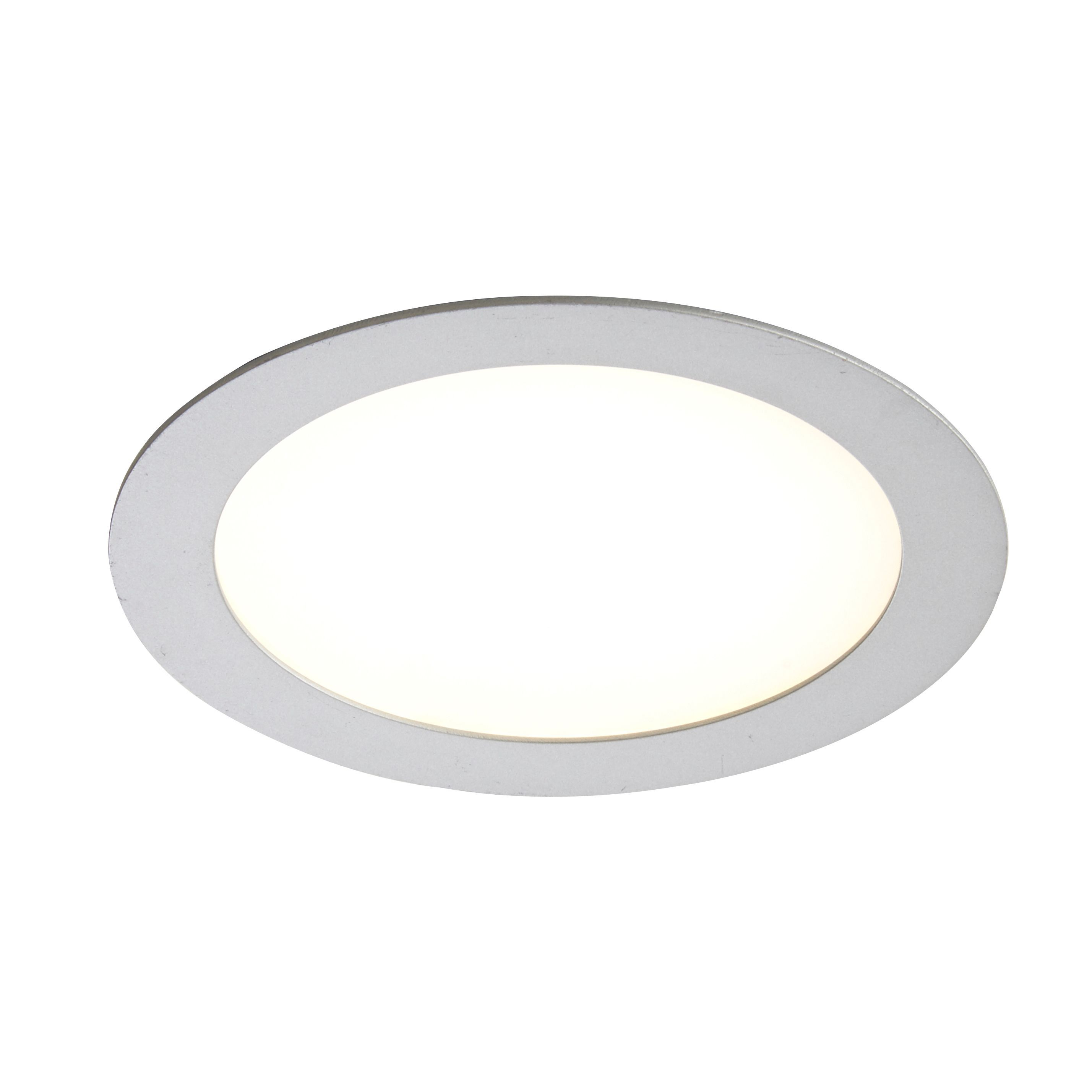 Colours Silver LED Fixed Recessed Downlight 11.5 W Ip20 ...