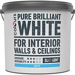 Colours White Matt Emulsion Paint 5L
