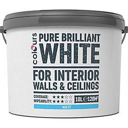Colours White Matt Emulsion Paint 10L