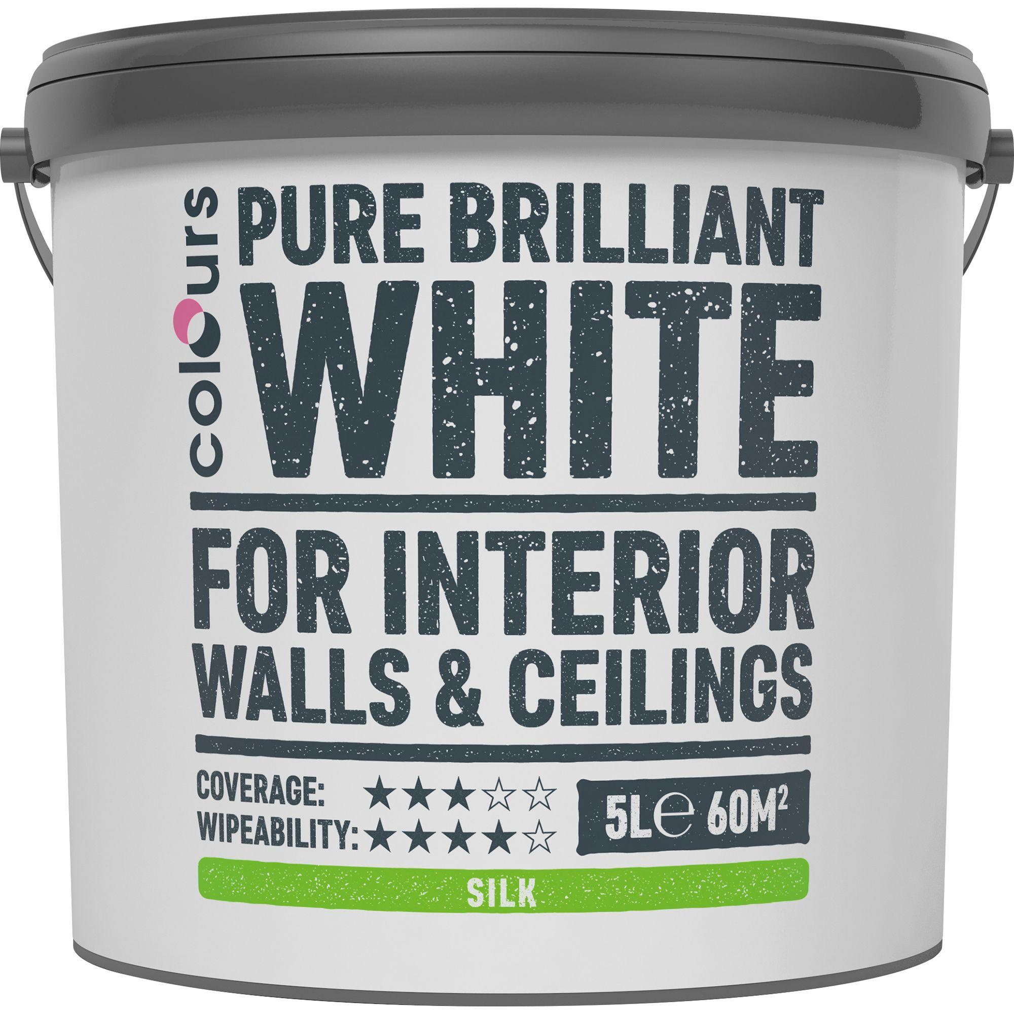 Colours White Silk Emulsion Paint 5l