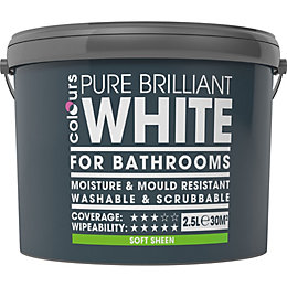 Colours White Soft Sheen Emulsion Paint 2.5L