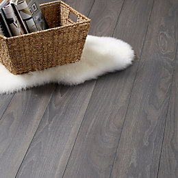 Horsham Grey Oak Effect Laminate Flooring Sample 2.058