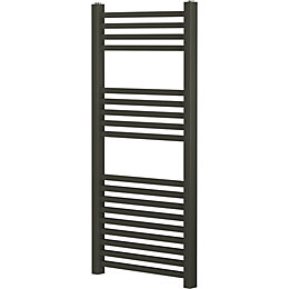 Blyss Pentworth Anthracite Flat Bar Ladder Towel Radiator