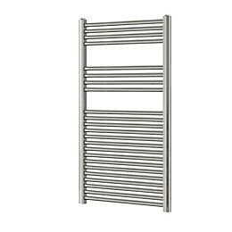 Blyss Chrome Flat Ladder Towel Warmer (H)1200mm (W)600mm