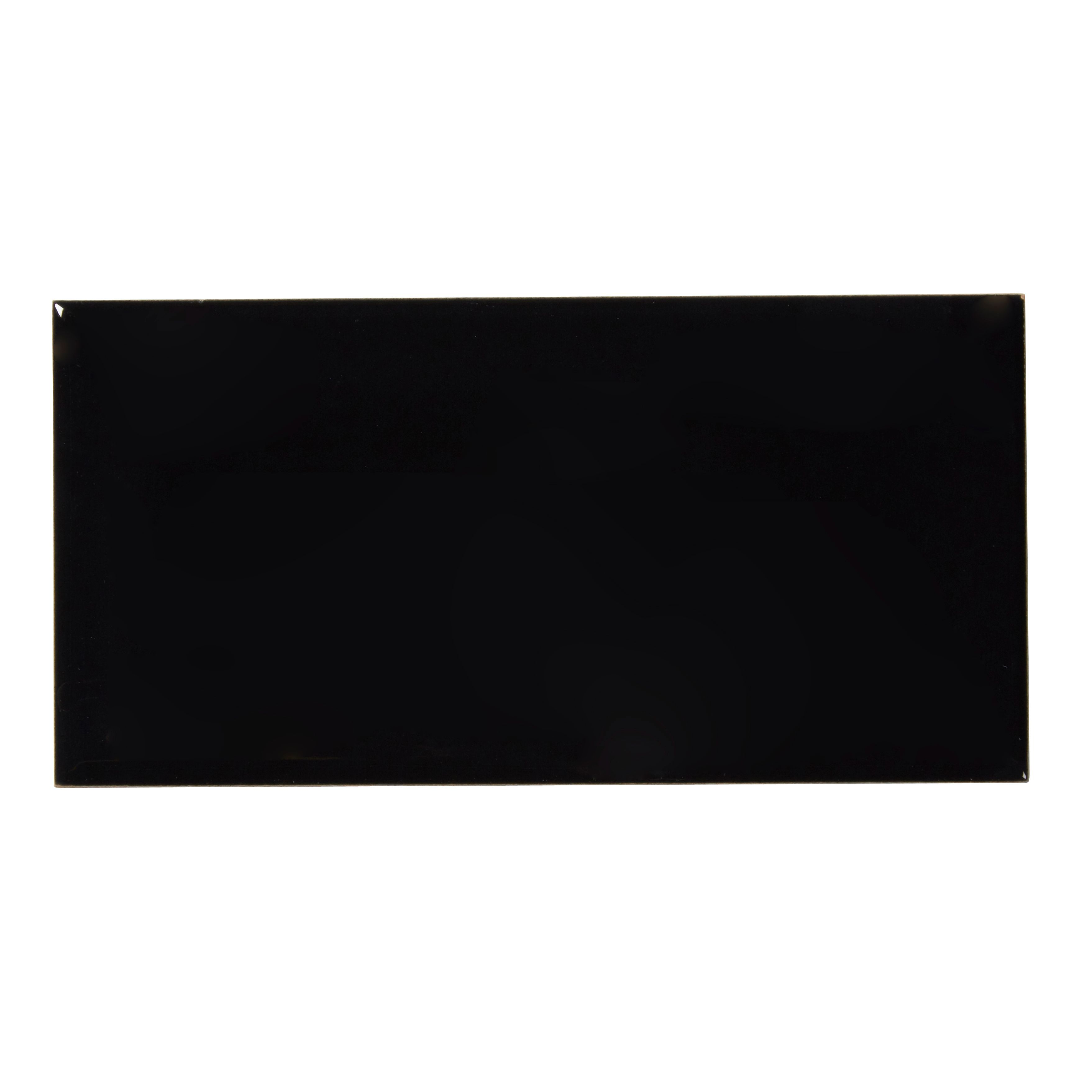 Diy at bq trentie black gloss ceramic wall tile pack of 40 l200mm dailygadgetfo Image collections