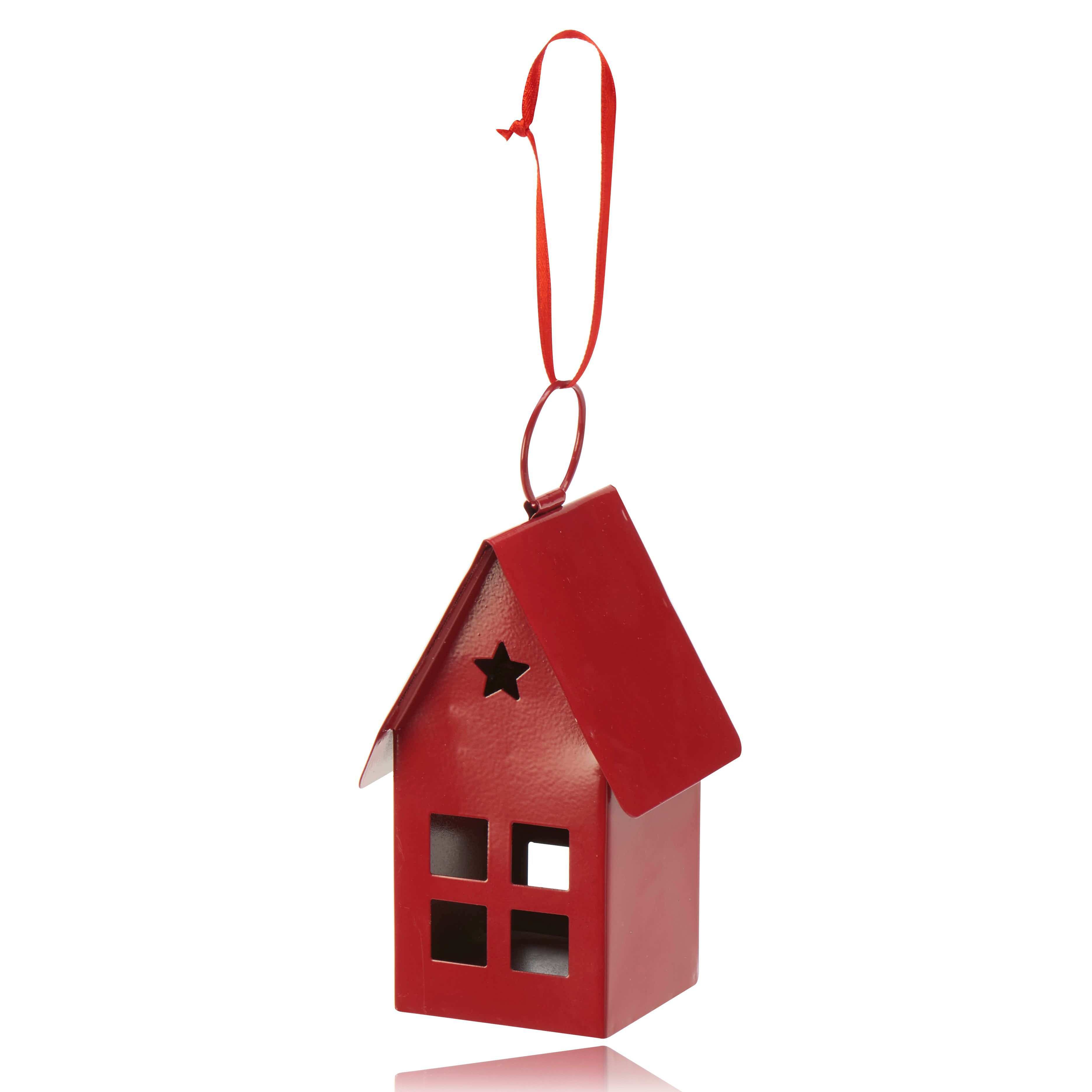 Red 3d House Decoration