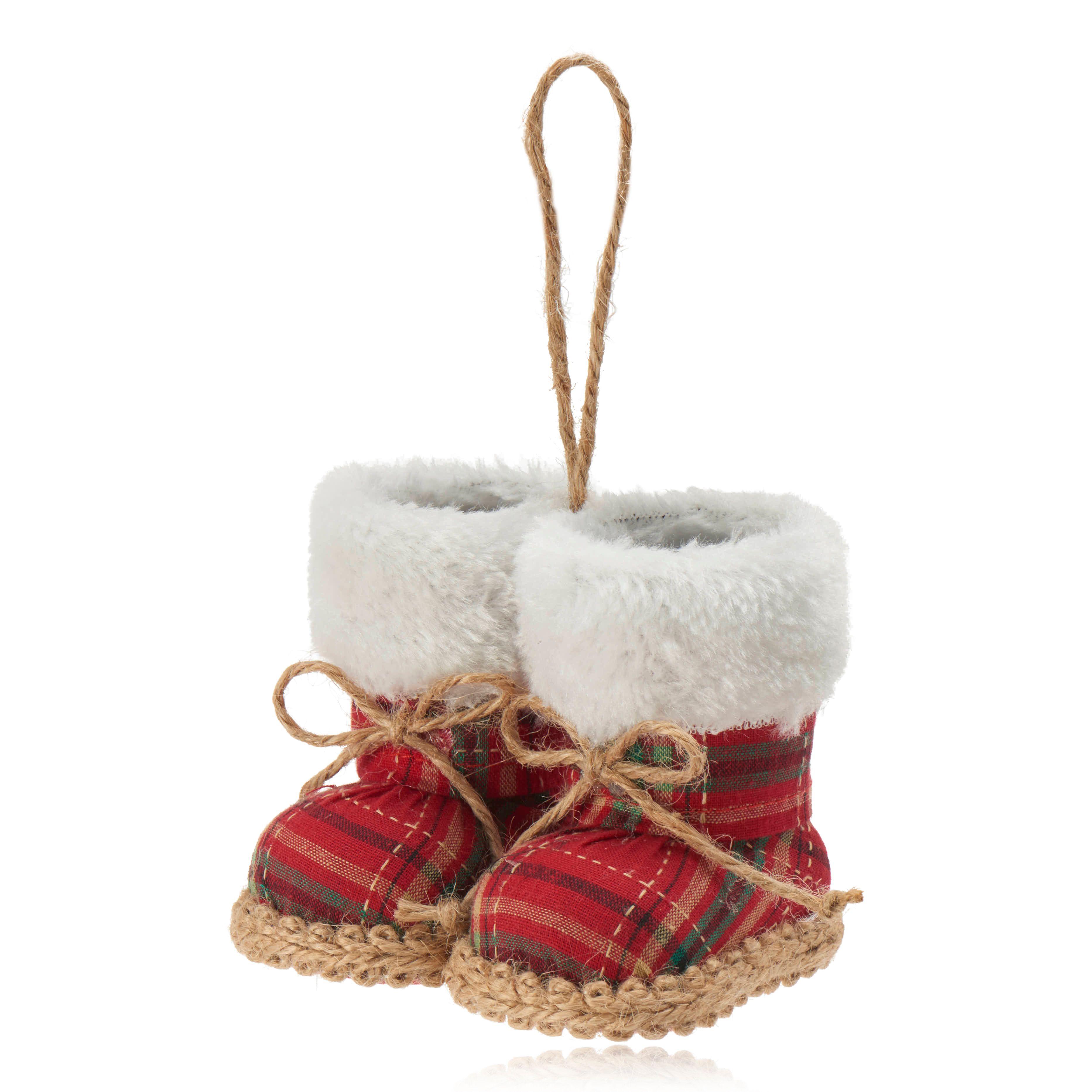 Red Tartan Boots Decoration