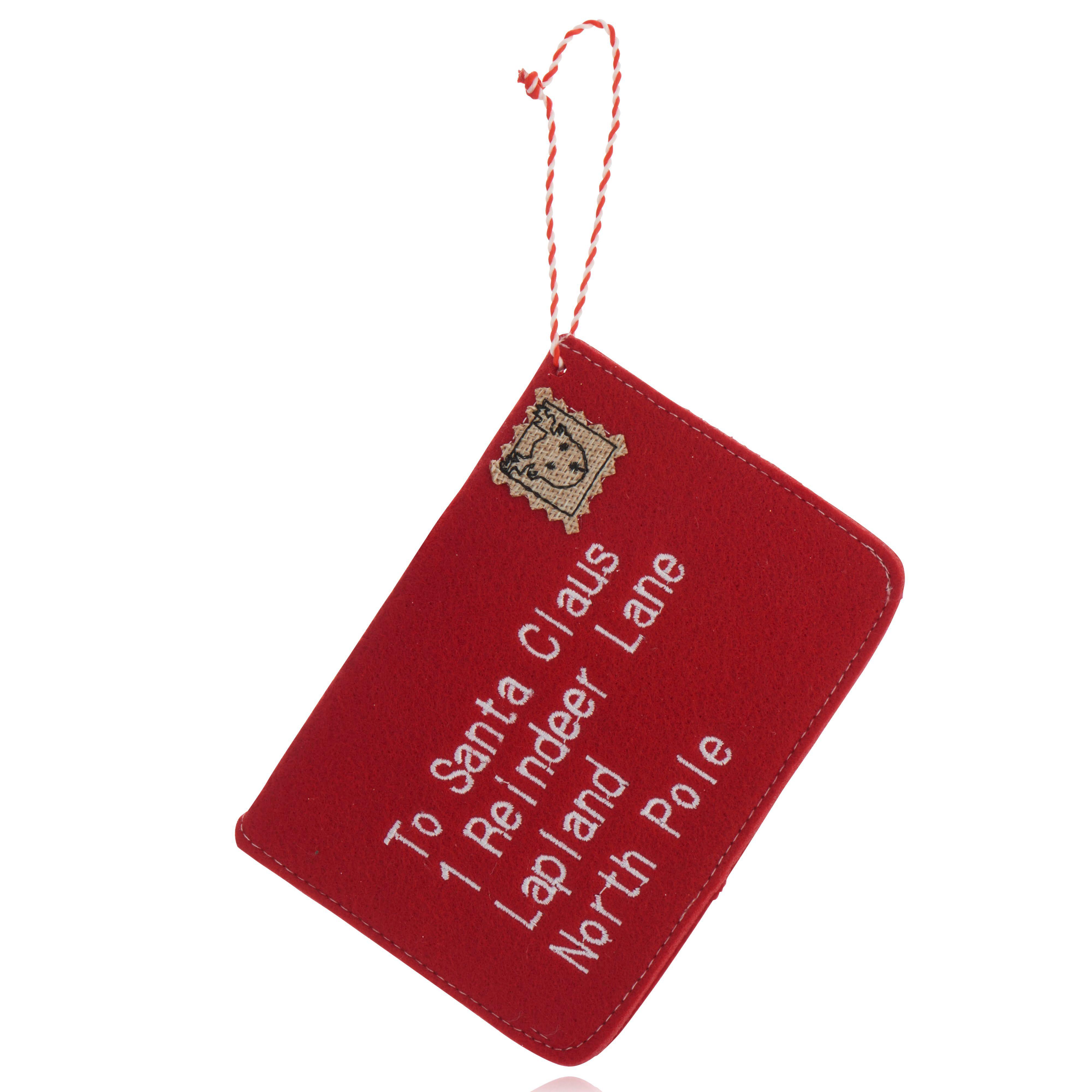 Red Santa Claus Envelope Decoration