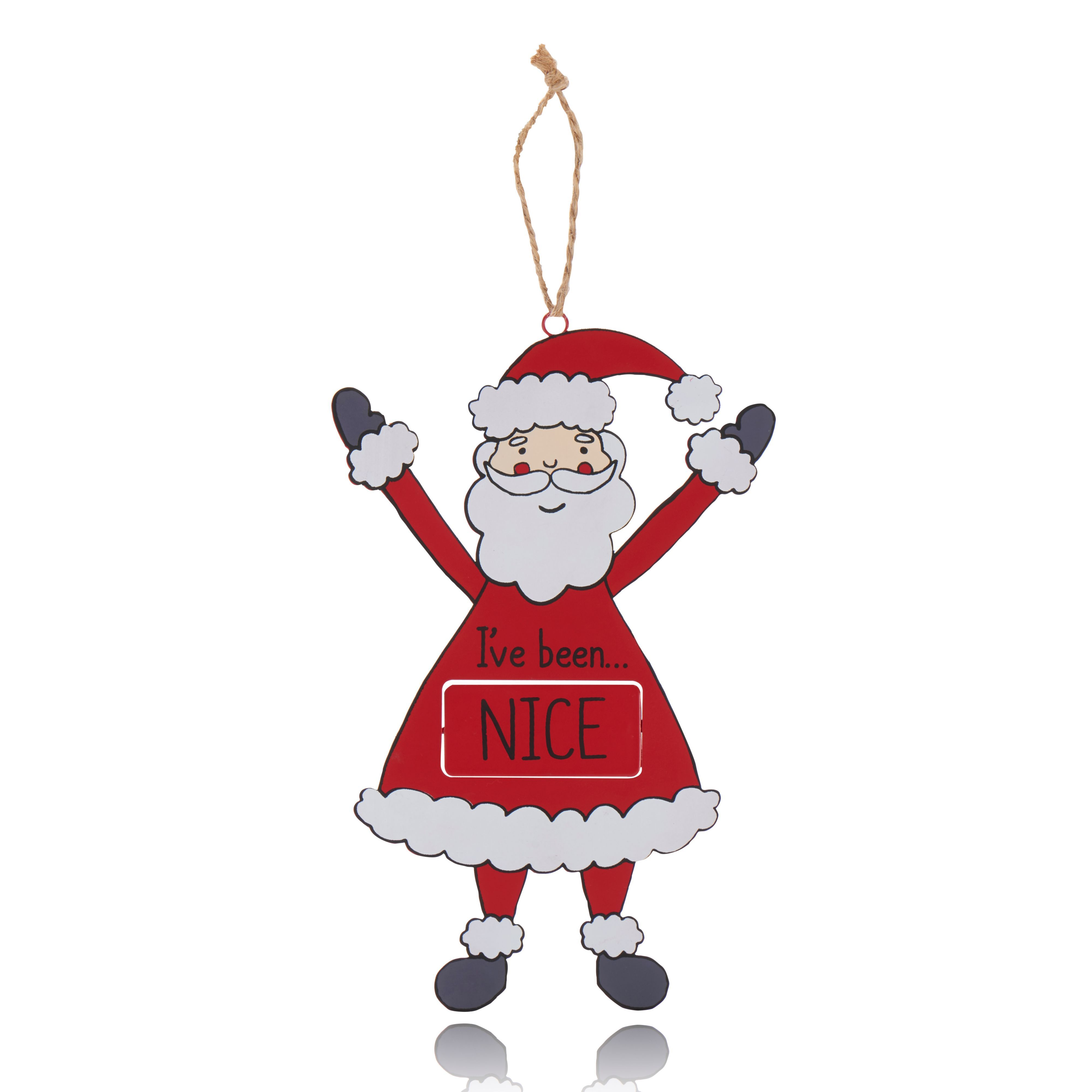 Red Naughty Or Nice Decoration